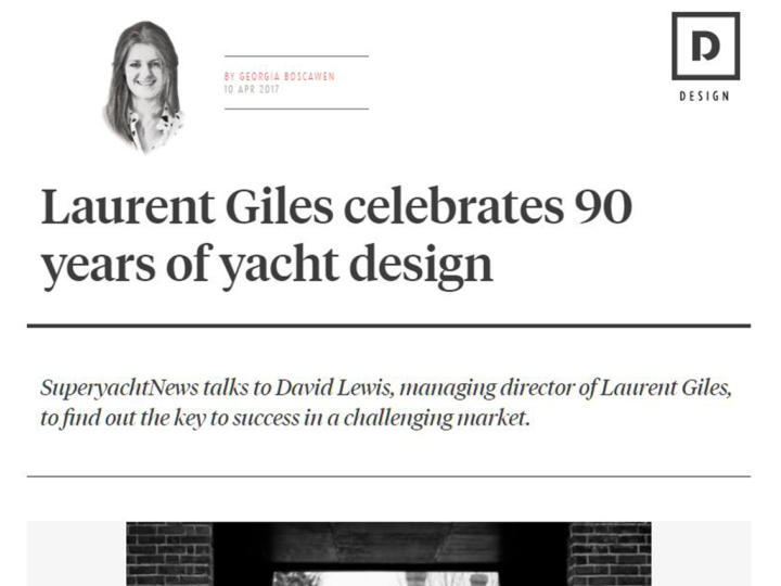 Laurent Giles celebrates 90 years of yacht design