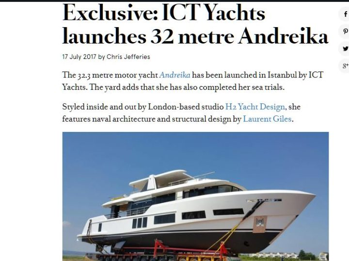 ICT Yachts launches 32 metre Andreika