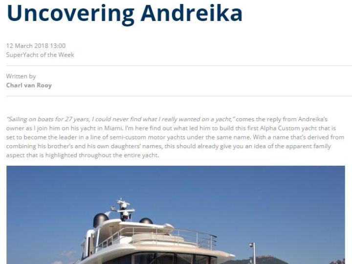 Superyacht of the Week: Uncovering Andreika